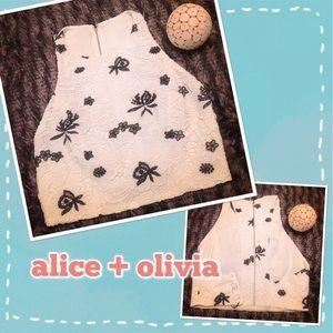 Alice + Olivia Lace Crop Top